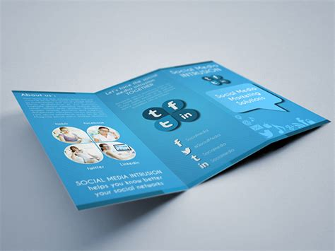 social media brochure template social media tri fold brochure template on behance