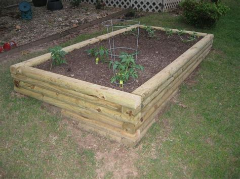 Using Landscape Timbers For Raised Beds Landscape Timbers Raised Bed Newsonair Org