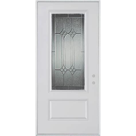 Stanley Doors 33 375 In X 82 375 In Orleans Patina 3 4 Stanley Exterior Doors