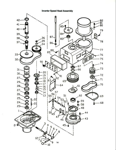 milling machine parts diagram buy jet 691215 jtm 1050evs 230 variable speed vertical