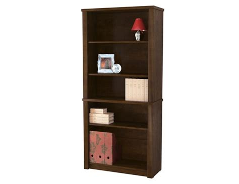 6 shelf storage bookcase in reclaimed wood zh141583r