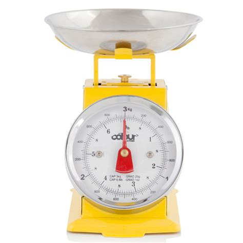 traditional kitchen scales cook in colour 3kg mini traditional kitchen scales