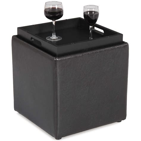 brown storage ottoman with tray 4a 06br blocks brown storage ottoman with tray d bf 06