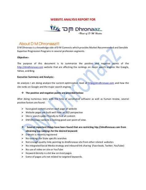 web analysis report sle website analysis report sle 28 images publisher or