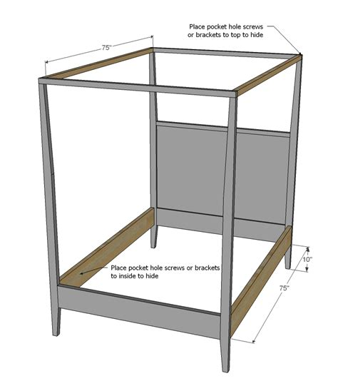 canopy bed plans canopy bed construction plans diy free download blueprints