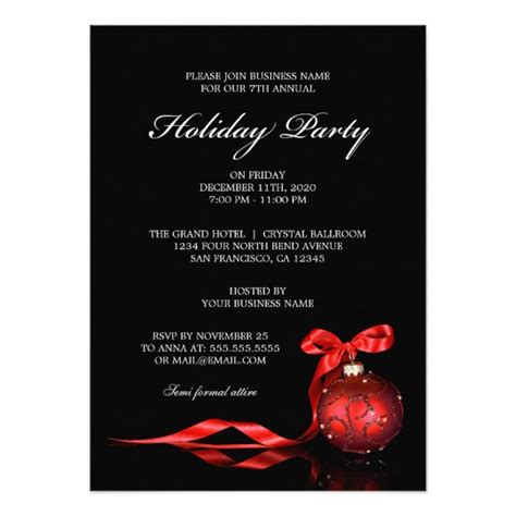corporate holiday party invitations zazzle com