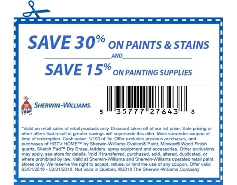 coupons for sherwin williams paint store sherwin williams coupons printable coupons