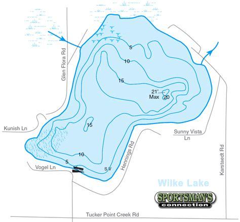 wisconsin lakes map wilke lake manitowoc county lakes association