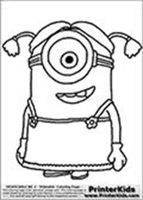 Kaos Minions Despicable Me 7 skylanders coloring page with the villain