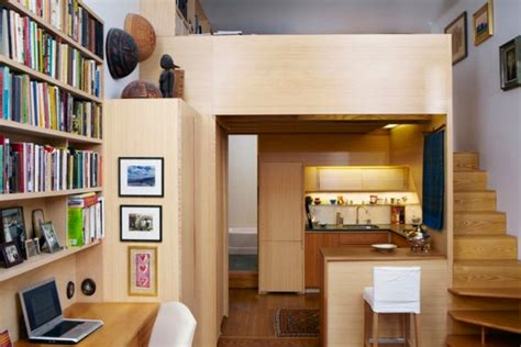 micro apartments 240 sf micro apartment in nyc with library and loft