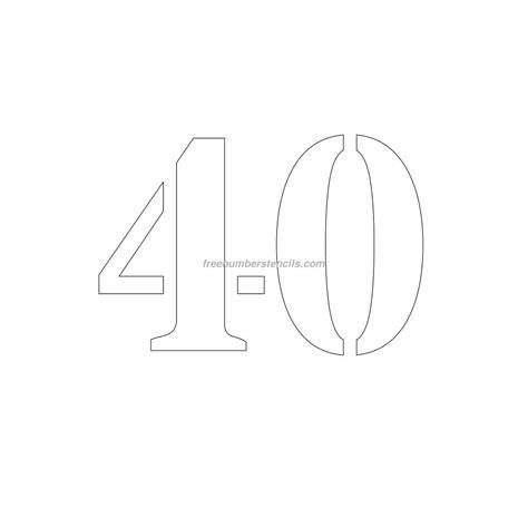 number stencil templates free 8 inch 40 number stencil freenumberstencils