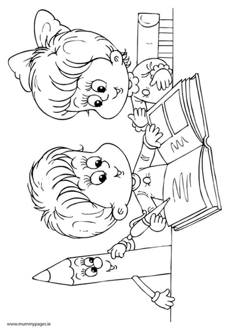 reading coloring pages printable boy and girl reading a book colouring page to download it