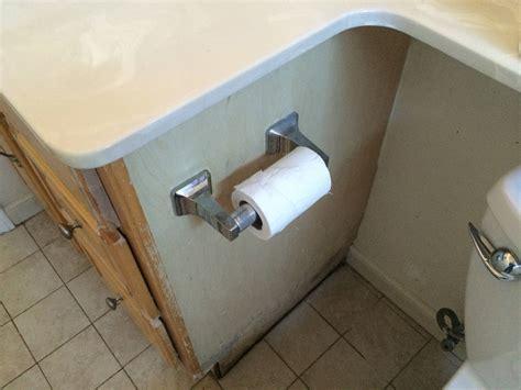 Repair Bathroom Wall Water Damage by Waterproofing How To Fix Side Of Bathroom Vanity Damaged