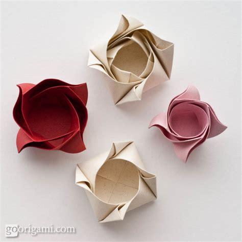 Single Sheet Origami Flower - box by sinayskaya go origami