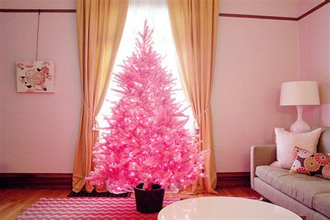 decorating a pink christmas tree beautiful pink tree for living room
