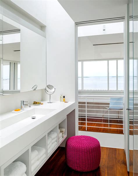 College Bedroom Furniture bathroom richard meier s fire island house