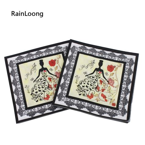 Paper Napkin Napkin Decoupage Tissu Tisu rainloong printed wedding paper napkins tissue printed napkin supply decoration
