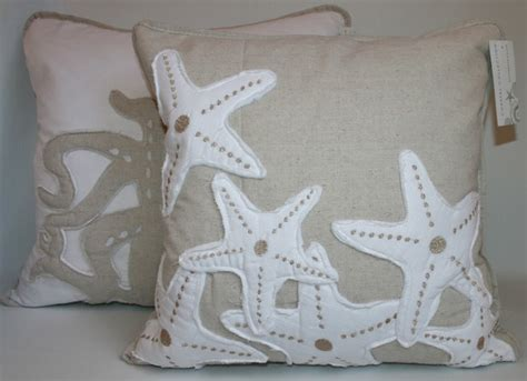 starfish in bed starfish accent pillow tropical bed pillows by