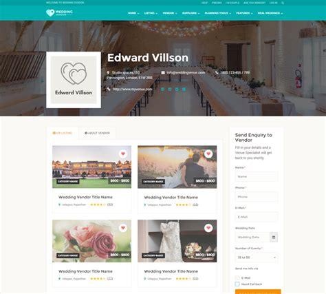 Wedding Vendor Websites by Wedding Vendor Directory Html Responsive Website Template