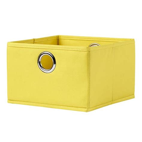 Yellow Fabric Drawer by I Think I Canvas Wide Drawer Yellow The Land Of Nod