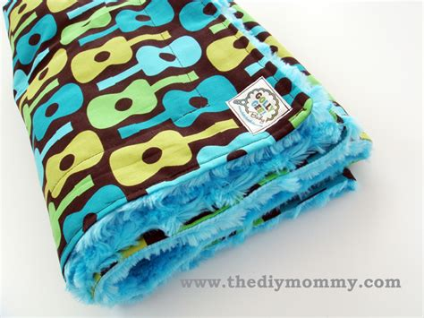 how to sew a baby boutique blanket with cotton and minky
