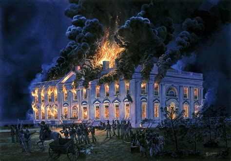 the burning of the white house the white house burns our lost founding