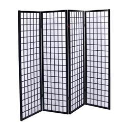 Panel Room Divider New Black 4 Panel Room Divider Screen Style Shoji Solid Wooden Screen Ebay