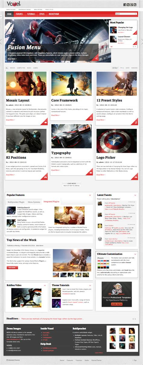 wordpress magazine layout plugin voxel wordpress magazine style theme mosaic grid layouts