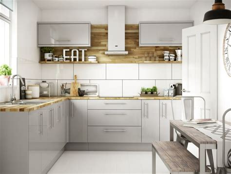 Orlando Grey Gloss kitchen   Wickes.co.uk