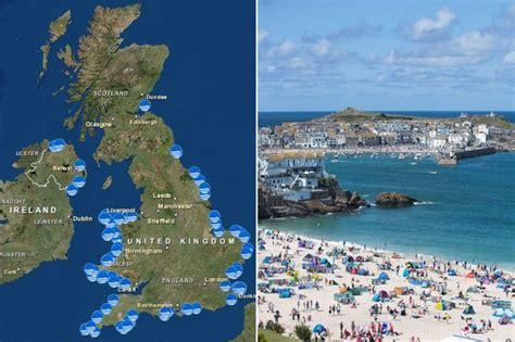 map uk beaches blue flag find out where your nearest one is with
