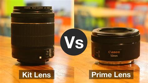 kit lens  prime lens       youtube