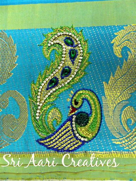design for embroidery work sri aari creatives peacock design aari work for kids top