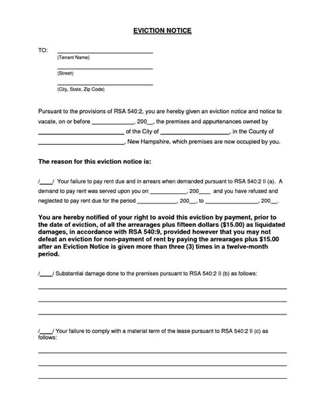 blank printable eviction notice blank eviction notice form templatezet