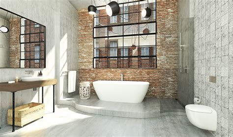industrial bathroom design the in bathrooms from caroma completehome