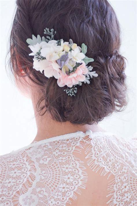 Flower Hair Pin flower hair clip pink hair flowers floral hair pin pink