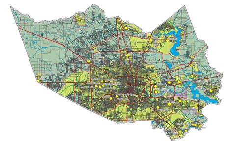 harris county map texas maps harris county map