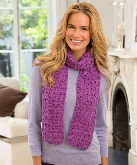 pattern red heart yarn jennifer s scarf free crochet pattern from red heart yarns