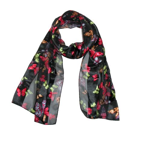 womens butterfly print scarf by ctm 174 fashion scarves