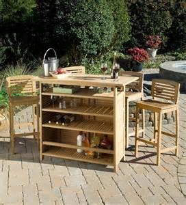 Outdoor Bar Cabinet Shorea Wood Bali Hai Outdoor Bar Cabinet Plus 4 Stools In A Teak Finish Teak Furniture