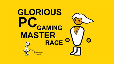 the glorious pc master race youtube
