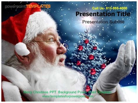 Merry Christmas Ppt Background Powerpoint Template Merry Powerpoint Template