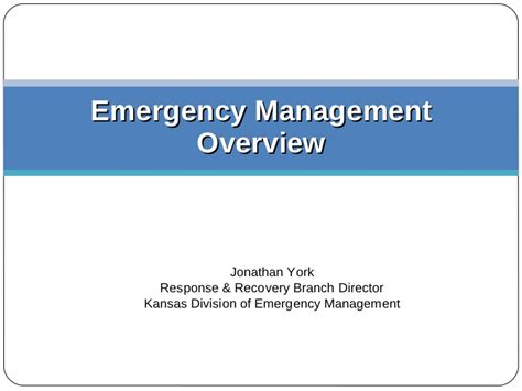 Lu Emergency National disaster planning local state federal roles and