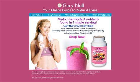 Gary Null Detox by Gary Null E Blast Caign By Rosa Vargas At Coroflot
