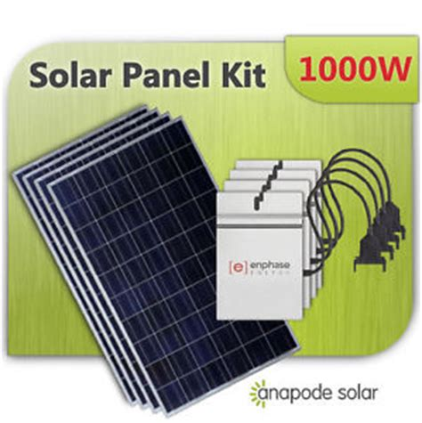 diy solar panel kits for home solar panel kit with enphase m215 do it yourself for home 1000w 1kw complete ebay