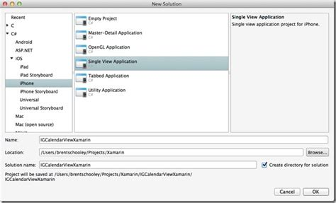 xamarin monotouch tutorial getting started using nuclios igcalendarview with xamarin