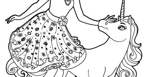 coloriage barbie alexa  le bebe licorne colouring