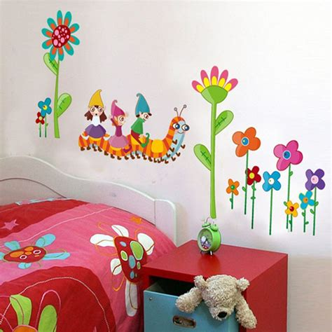 Childrens Bedroom Wall Decor Room Wall Decor Pvc Waterproof Removable Wall Stickers House Decals Baby Bedroom Wall