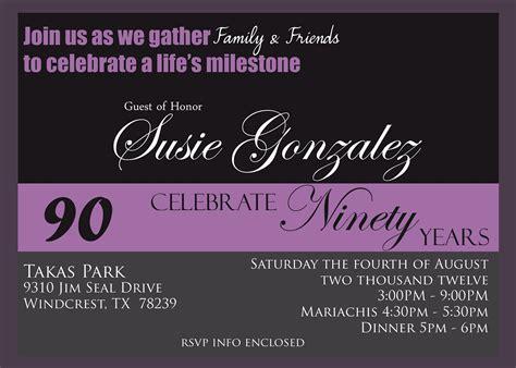 90th birthday invitation template photo creations 90th birthday celebration invitaion