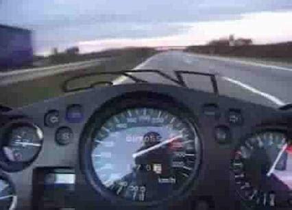 Lustige Motorrad Filme Videos by 305 Km H Auf Der Autobahn
