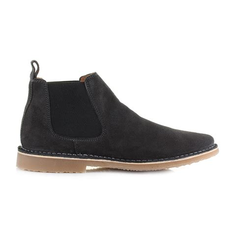 mens black suede chelsea boots uk mens and jones leo suede leather pirate black chelsea